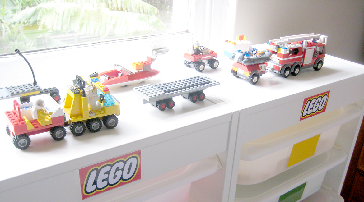 How to store childrens lego easily and cheaply