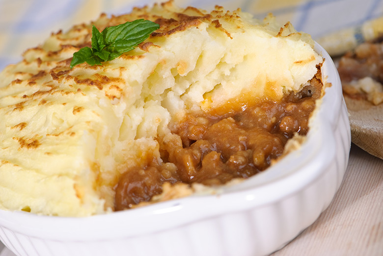The classic Shepherd's Pie is always satisfying on a cold winters night.