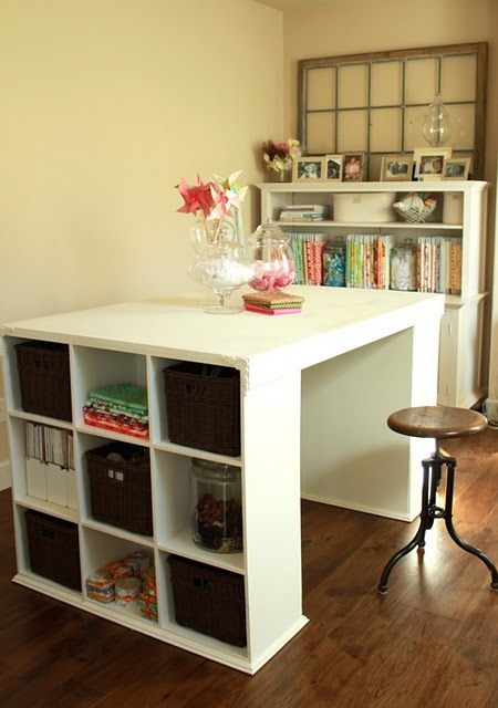 17 amazing craft room storage organising ideas the for Furniture configurations for small spaces