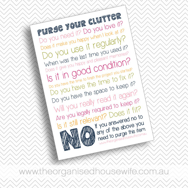 how to get rid of clutter when moving