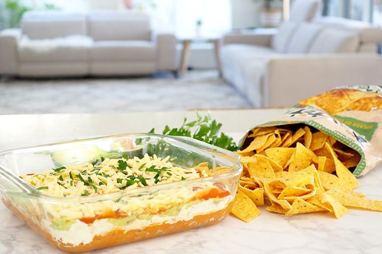 Corn chip dio taco mexican layer recipe by TOH
