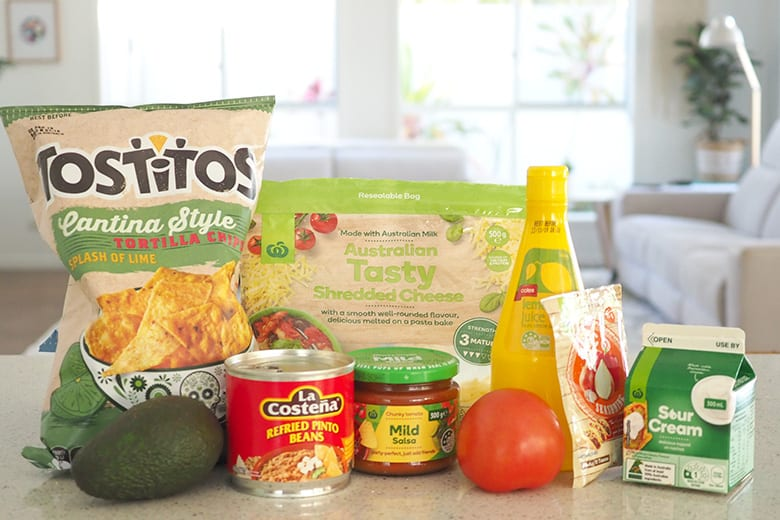 Easy to make mexican dip for kids and families