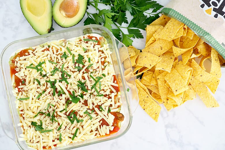 Mexican Layered Taco Dip recipe by The Organised Housewife