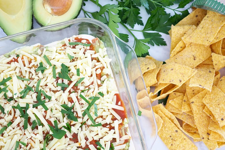 Mexican layer dip recipe for bbq and entertaining
