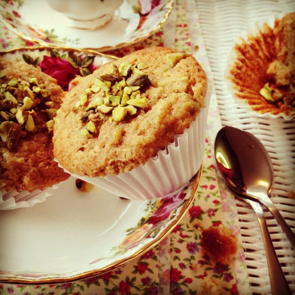 ... brown butter, apple and cinnamon muffins ever so thankful for the rain