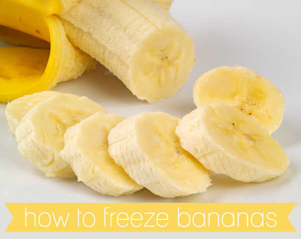 HOW TO FREEZE BANANAS - The next time you find overripe bananas in your fruit basket place them in the freezer. They can be frozen for several months and thawed to use to make cakes, bread, muffins when your ready.