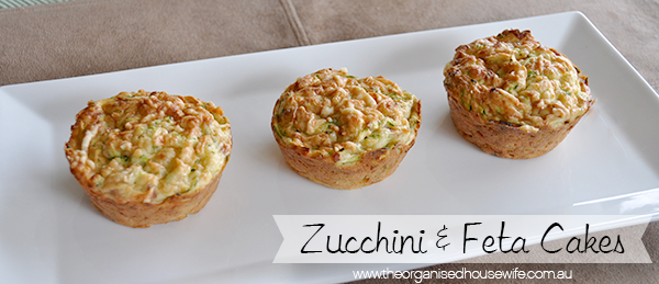 {The Organised Housewife} Zucchini and Feta Cakes
