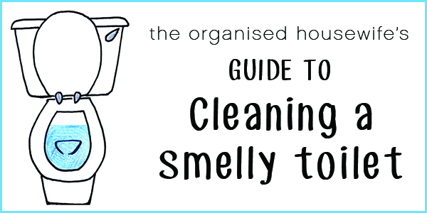 The Organised Housewife to cleaning a smelly toilet