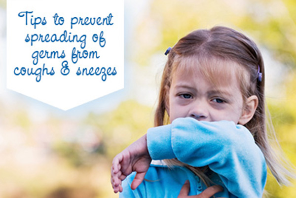 Help stop the spreading of germs from coughs and sneezes