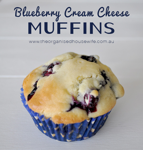 {The Organised Housewife} Blueberry Cream Cheese Muffins