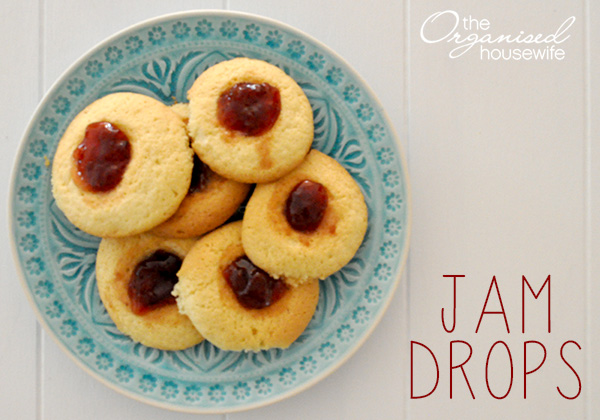 {The Organised Housewife} The most delicious Jam Drop Recipe
