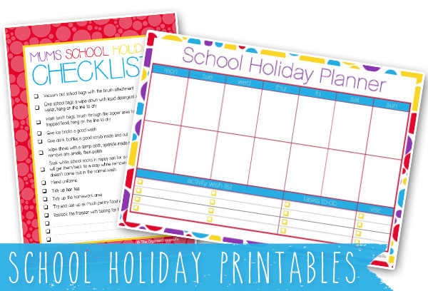 school holiday printables