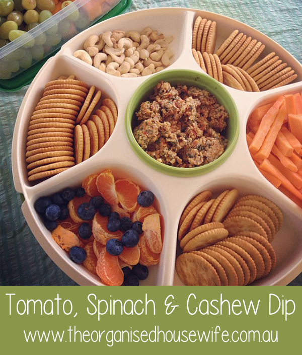 Spinach Tomato and Cashew Dip