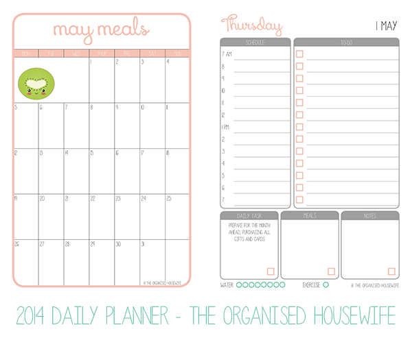 the 2015 weekly planner the organised housewife