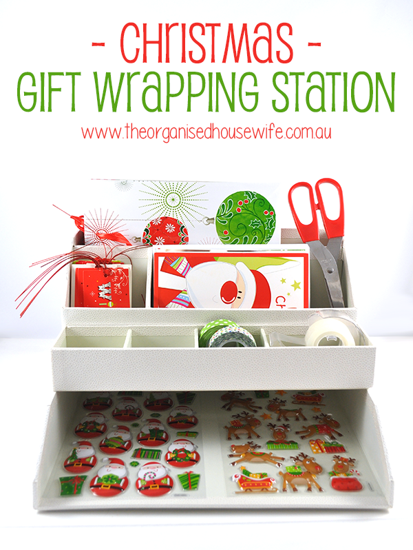 Christmas Gift Wrapping Station The Organised Housewife