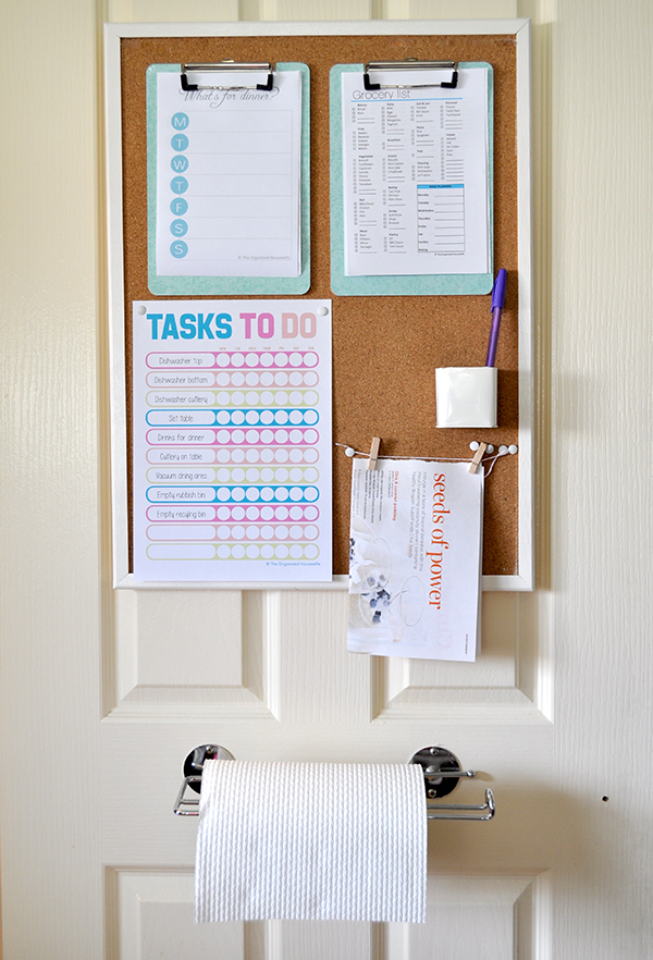 {The Organised Housewife} Organised Pantry Door - Task To Do Chart