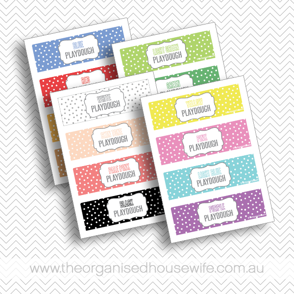 {The Organised Housewife} Playdough Labels