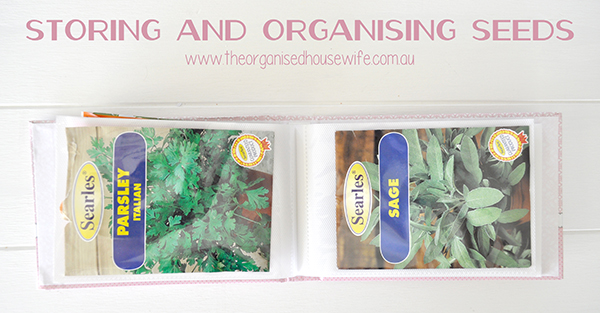 {The Organised Housewife} Storing and Organising Seeds