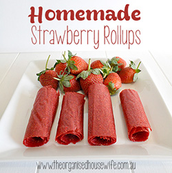 {The Organised Housewife} Strawberry Fruit Leather Rollups sidebar