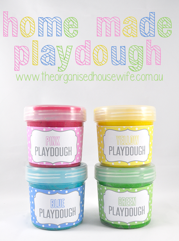 {The Organised Housewife} Thermomix Home made Playdough 2