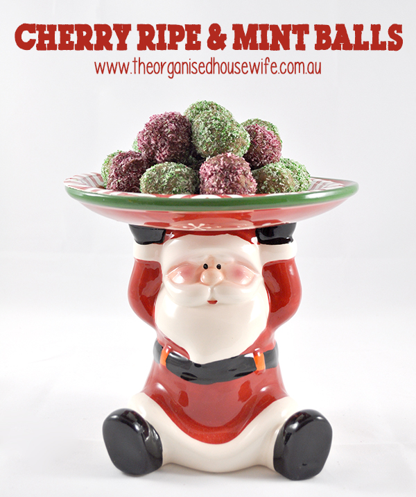 Christmas Cherry Ripe and Mint Balls