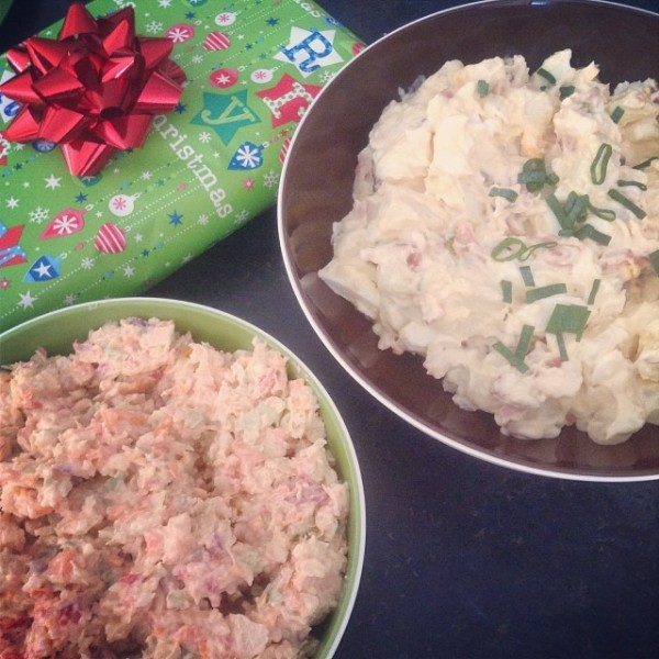 Home made Potato Salad and Coleslaw