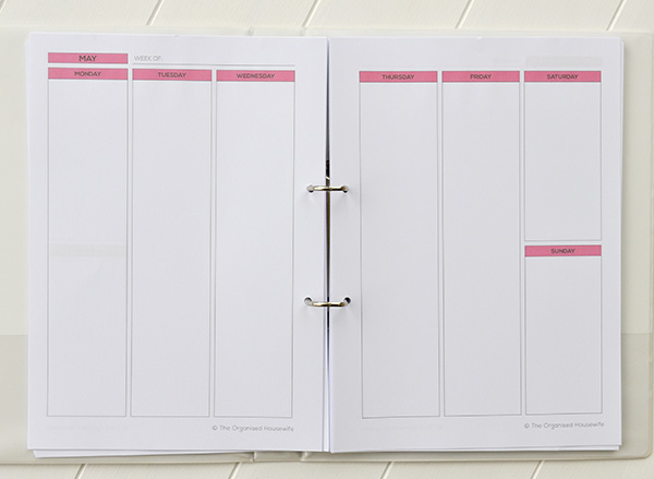 {The Organised Housewife} 2014 Blog Planner Printables 3
