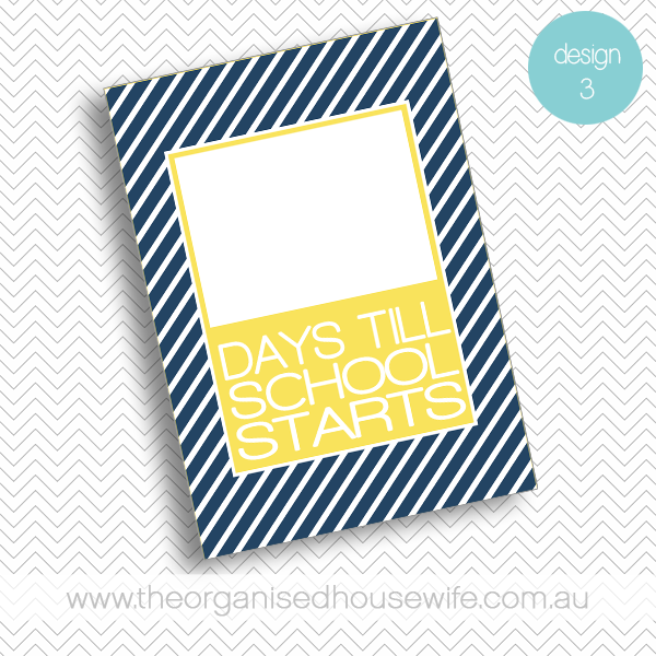 {The Organised Housewife} Countdown till School Starts - Design 3