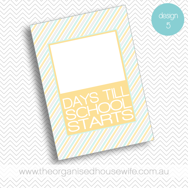 {The Organised Housewife} Countdown till School Starts - Design 5