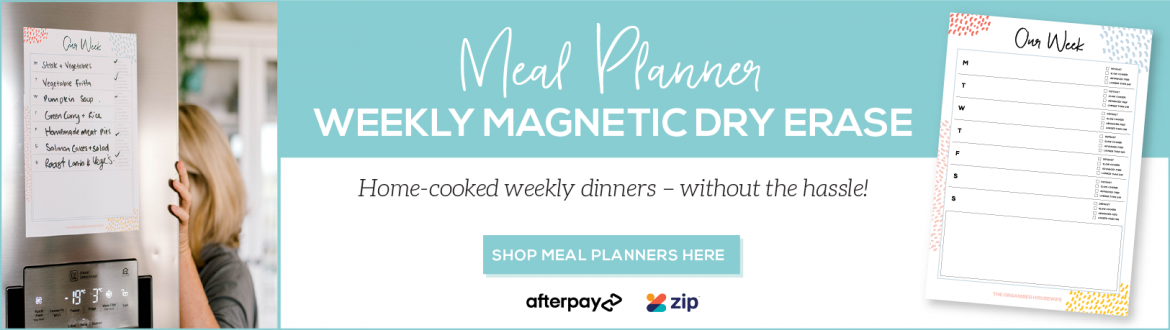 7 day family meal plan - use magnetic meal planner