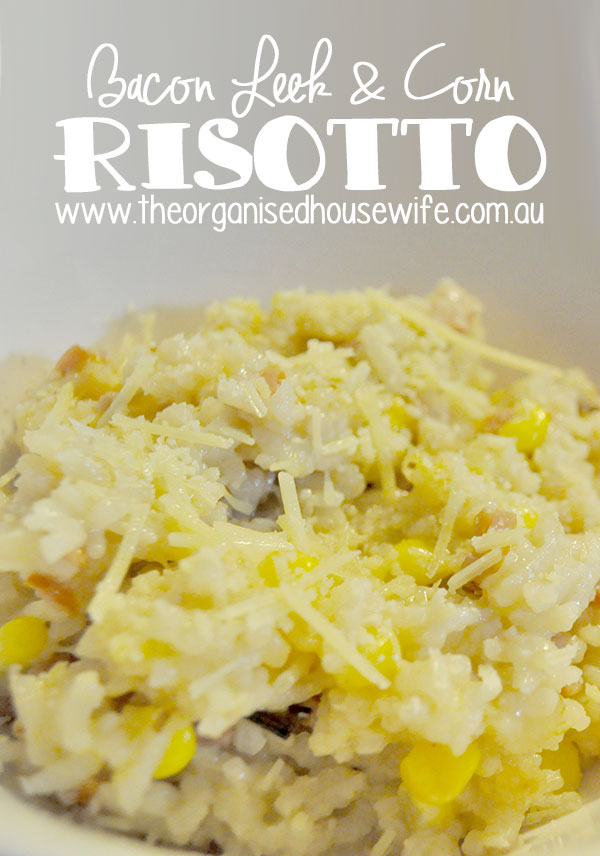 {The-Organised-Housewife}-Bacon-Leek-and-Corn-Risotto