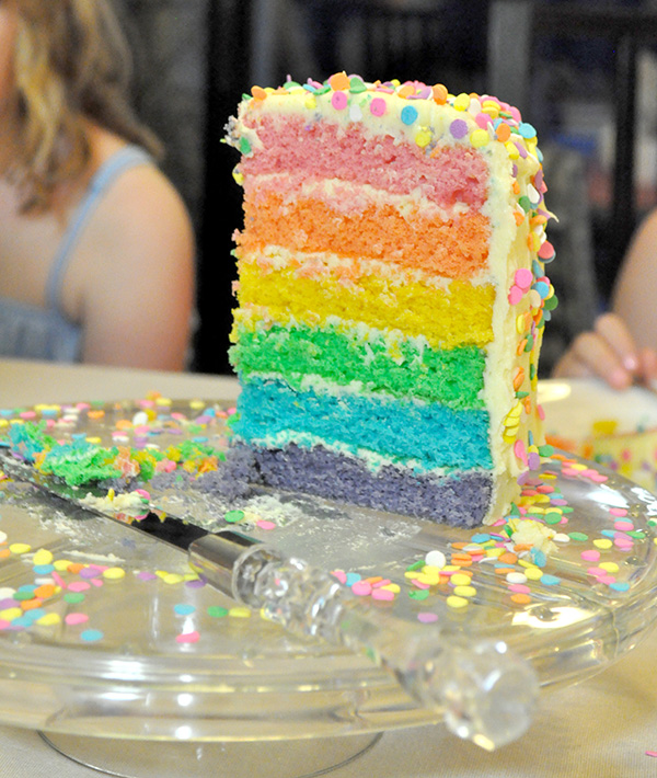 {The Organised Housewife} How to make a Layered Rainbow Cake 2
