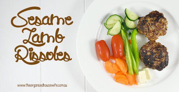 Sesame Lamb Rissoles recipe for busy parents