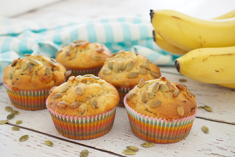 after school snack idea - banana muffin