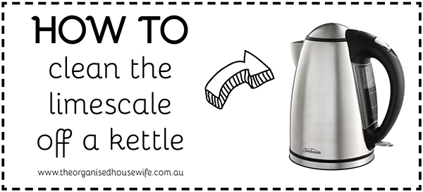 How To Clean Limescale off the kettle
