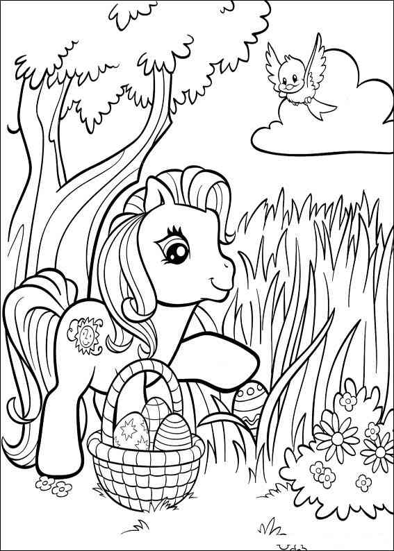 Free easter colouring pages the organised housewife for My little pony easter coloring pages