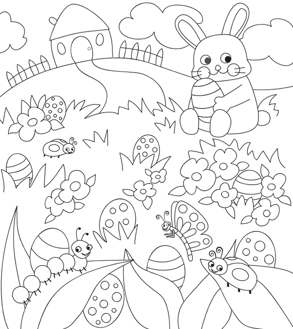 Free Easter Colouring Pages - The Organised Housewife