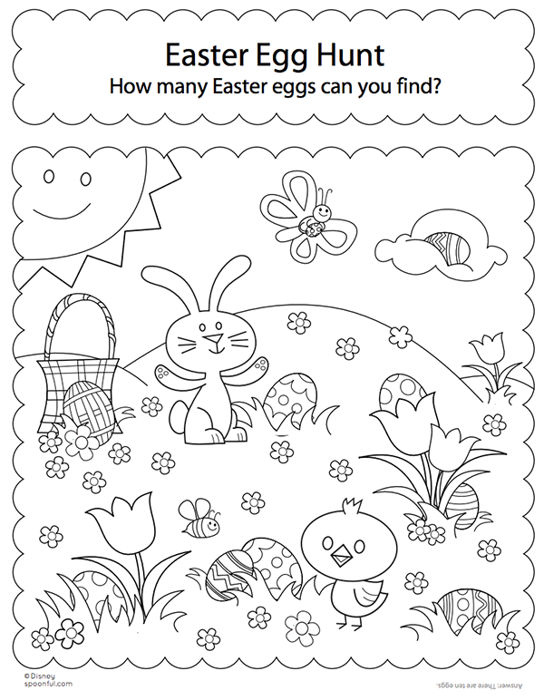 Hunt it colouring page...