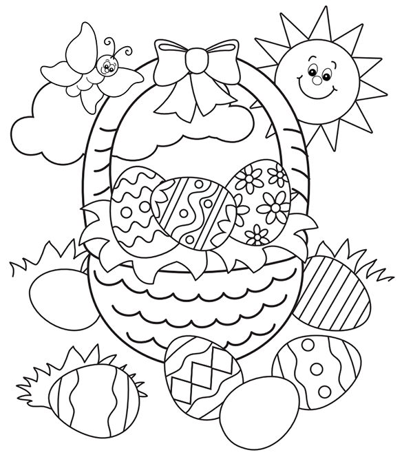Free Easter Worksheets : Free easter colouring pages the organised housewife