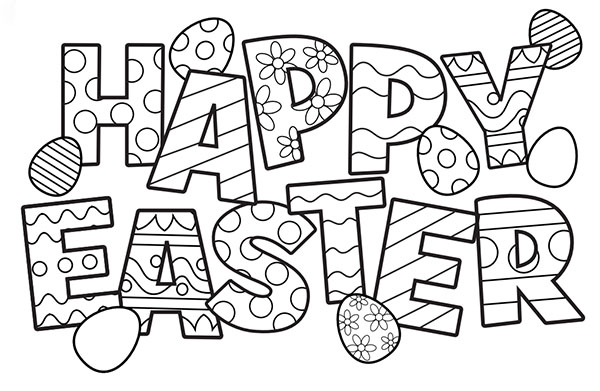 Free easter colouring pages the organised housewife for Easter coloring pages for boys