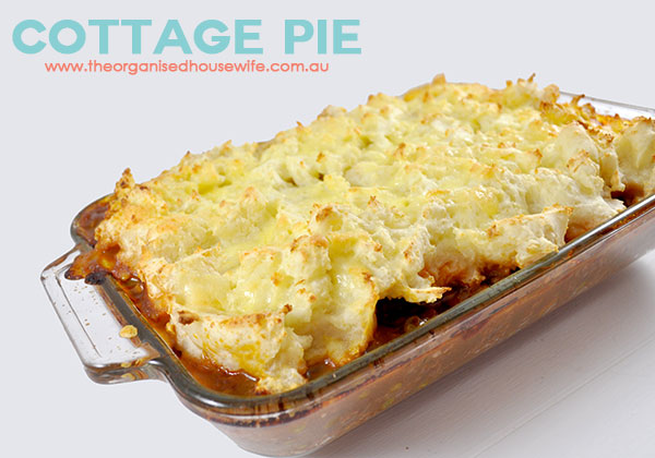 Cottage Pie – The Organised Housewife