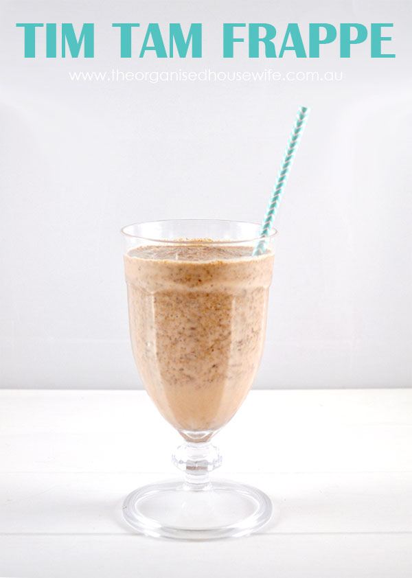 {The Organsied Housewife} Tim Tam Frappe