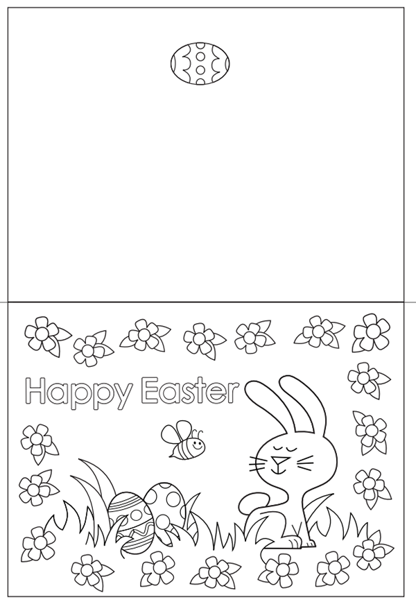 free coloring pages printable easter card | Free Easter Colouring Pages – The Organised Housewife