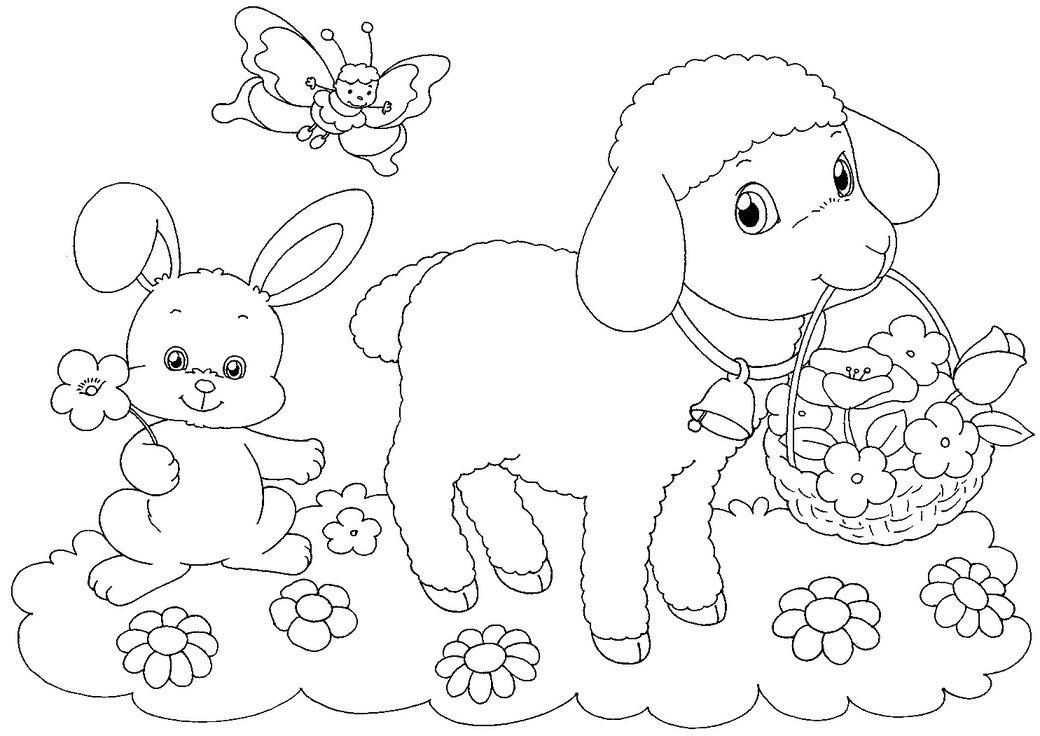 coloring book pages for easter - photo#10