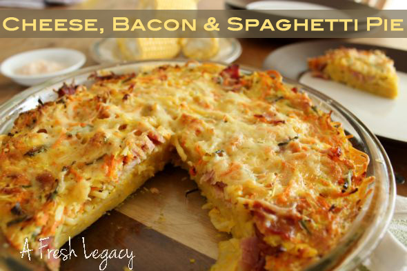 Spaghetti-Bacon-Pie