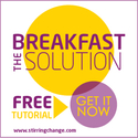 The Breakfast Solution Button 125x125px