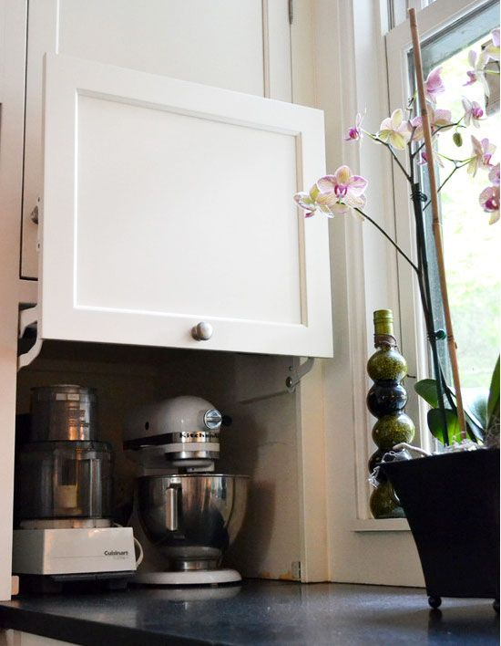 clever kitchen cabinet appliance storage 1