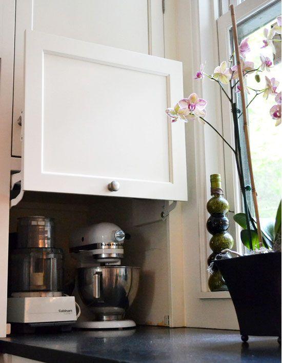 clever kitchen cabinet appliance storage 1