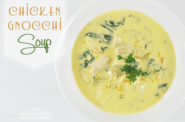 {The Organised Housewife} Chicken Gnocchi Soup 3