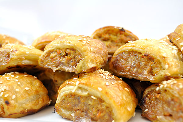 Homemade Beef Vegetable Sausage Rolls